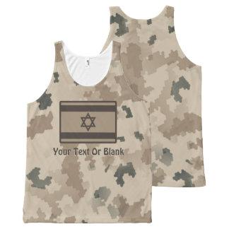 Israeli Flag On Desert Camo All-Over Print Tank Top