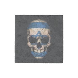 Israeli Flag Skull Stone Magnet