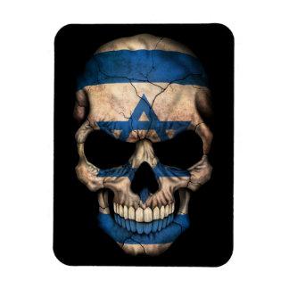 Israeli Flag Skull on Black Magnets