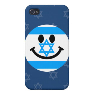 Israeli flag smiley face cases for iPhone 4