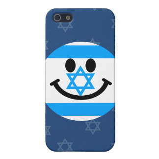 Israeli flag smiley face cases for iPhone 5