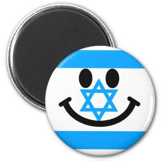 Israeli flag smiley face magnets