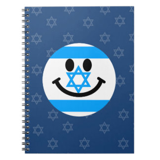Israeli flag smiley face notebooks