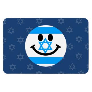 Israeli flag smiley face flexible magnets