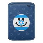 Israeli flag smiley face sleeve for MacBook air