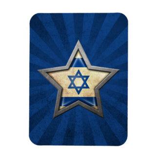 Israeli Flag Star with Rays of Light Flexible Magnet