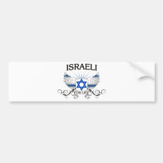 Israeli For Life Bumper Sticker