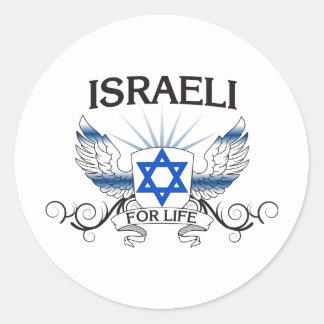 Israeli For Life Round Sticker