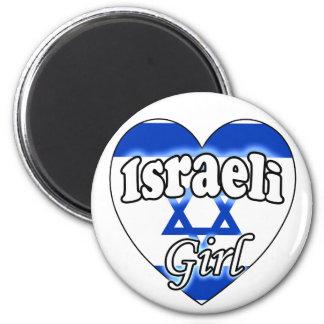 Israeli Girl 6 Cm Round Magnet