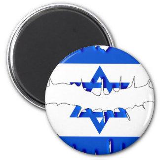 Israeli Kiss 6 Cm Round Magnet