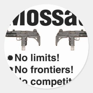 Israeli Mossad, best intelligence agency of World Round Sticker