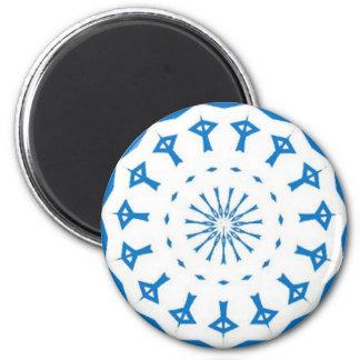 Israeli pride 6 cm round magnet