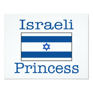 Israeli Princess 11 Cm X 14 Cm Invitation Card