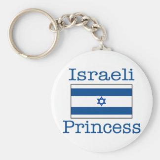 Israeli Princess Basic Round Button Key Ring