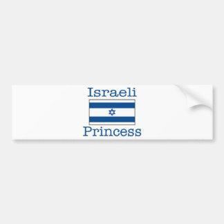 Israeli Princess Car Bumper Sticker