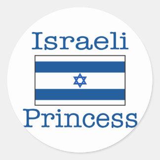 Israeli Princess Round Sticker