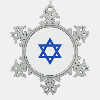 Israeli Star of David Pewter Snowflake Decoration