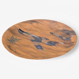 Israeli Super Mystères Over The Desert Paper Plate