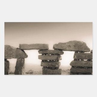 Israel's stonehenge rectangular sticker