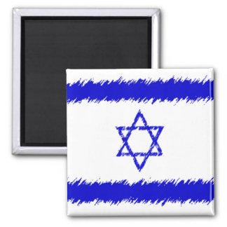 Isreali Flag Square Magnet