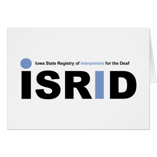 isrid note card