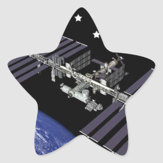 ISS Members Composite Logo Star Stickers