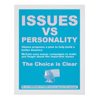 Issues vs Personality Posters
