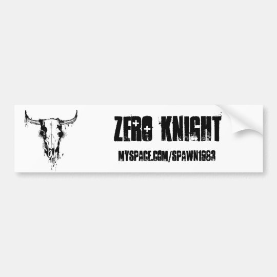 ist2_2056556_cow_skull_stencil, ZERO KNIGHT , M... Bumper Sticker