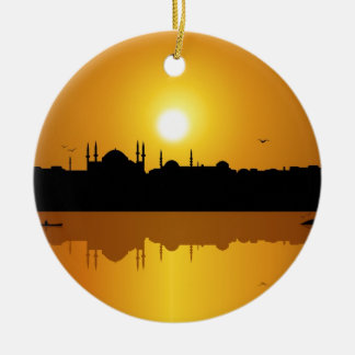 Istanbul And Sunset Christmas Ornament