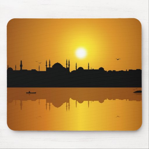 Istanbul and sunset mouse pads