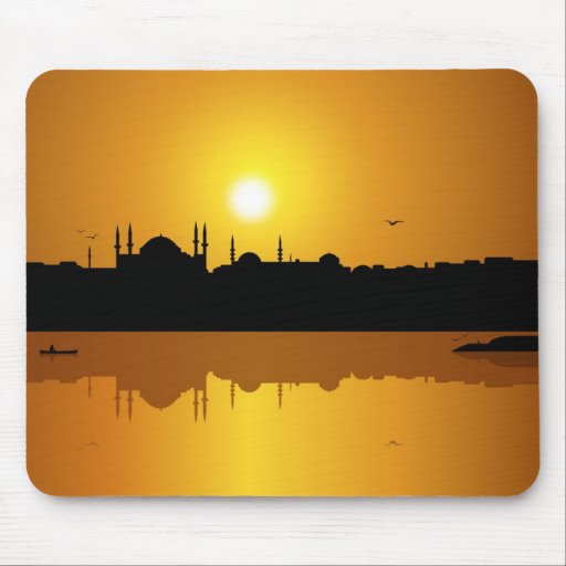 Istanbul and sunset mousepads