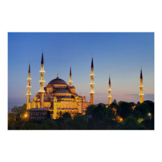 Istanbul - Blue Mosque at twilight Poster