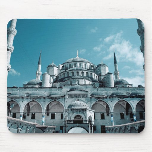 Istanbul Blue Mosque in Turkey Mouse Pads