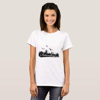 Istanbul Bosphorus Bridge White T-Shirt for Women