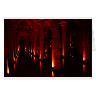 Istanbul cisterns greeting card