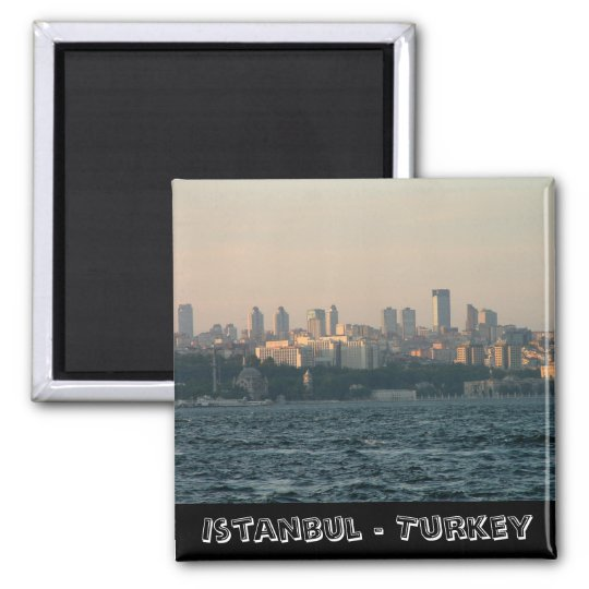 Istanbul, city panorama, Turkey (Fridge Magnet) Magnet