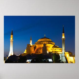Istanbul - Hagia Sophia at twilight Poster