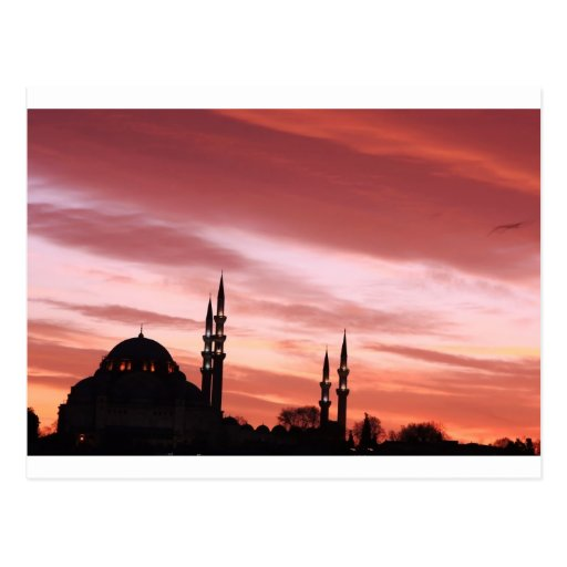Istanbul-Mosque silhouette Postcards