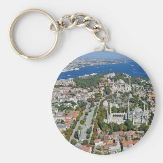 Istanbul - Sultanahmet (Button Keychain) Key Ring