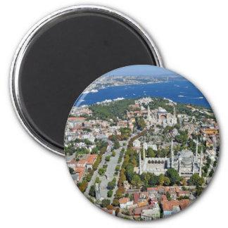 Istanbul - Sultanahmet (Round Magnet) 6 Cm Round Magnet