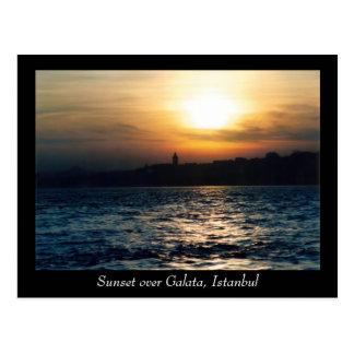 Istanbul Sunset Postcard