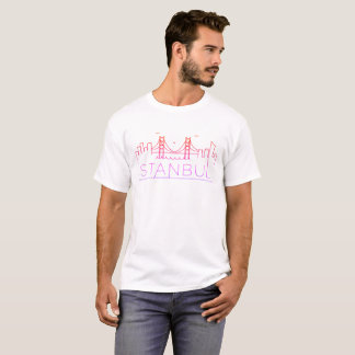 Istanbul T-shirt Colored Panorama with minimalism