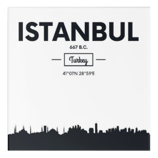 Istanbul, Turkey | City Coordinates Acrylic Wall Art