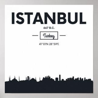 Istanbul, Turkey | City Coordinates Poster