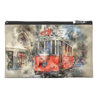 Istanbul Turkey Red Trolley Travel Accessory Bag