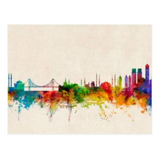 Istanbul Turkey Skyline Postcard