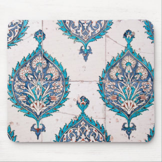istanbul turkey tile floral mosaic texture mouse mat