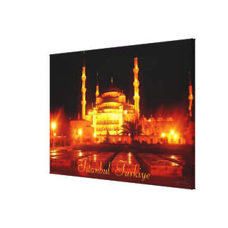 Istanbul Turkiye Mosque Photography Gallery Wrapped Canvas