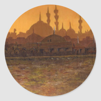 İstanbul Türkiye / Turkey Classic Round Sticker