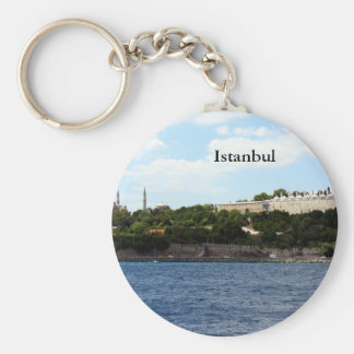 Istanbul View- Harbor Basic Round Button Key Ring